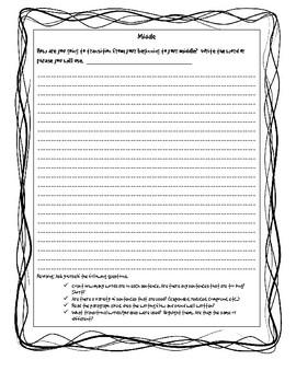 Narrative Sentence Fluency Graphic Organizer