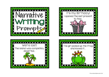 Narrative Sentence Starters and Story Writing Prompt Cards