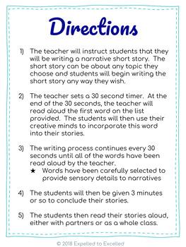 Narrative Short Story Writing 8