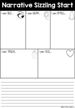 Narrative Sizzling Start-Orientation Introduction Practise Worksheet Use Senses