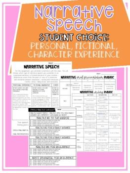 Narrative Speech - Student Choice
