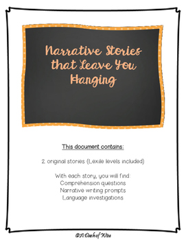 Narrative Stories That Leave You Hanging
