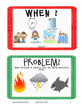 Narrative Story Element Cards