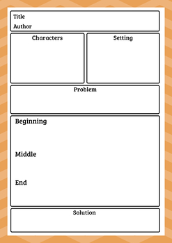Narrative Story Elements - 3 Reading Responses / Graphic Organizers