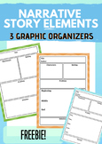 Narrative Story Elements - 3 Reading Responses / Graphic O