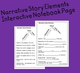 Narrative Story Elements - Interactive Notebook Page