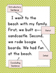 Narrative Writing Template (First Grade)
