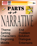 Narrative Story Outline  - Writing a Story  Smartboard File 46 Pages
