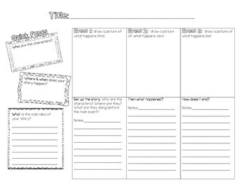 Narrative Story Outline and Comic Strip