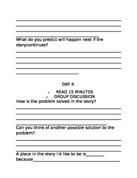 Narrative Story Structure Questions for a Fiction Book
