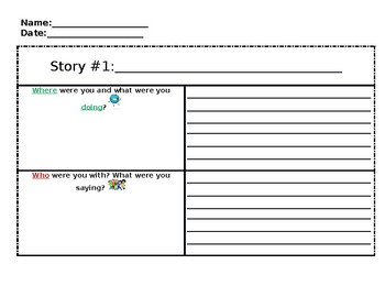 Narrative Story Template