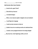 Narrative Story Writing Checklist