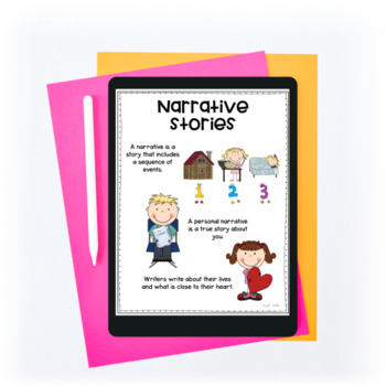 Narrative Story Writing Interactive Journal W.2.3 & W.3.3