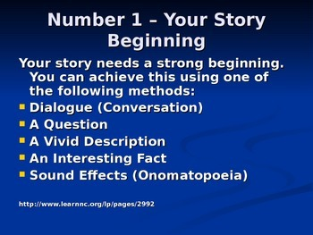 Narrative Story Writing: Steps for Students Quick Review