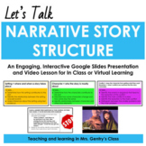 Narrative Structure Story Elements Video Lesson | Distance