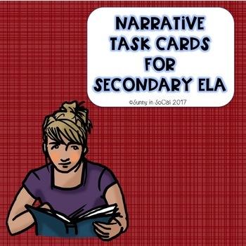 Narrative Task Cards for Secondary ELA