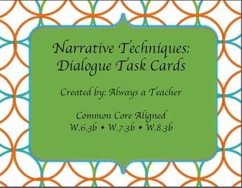 Narrative Techniques: Dialogue Task Cards