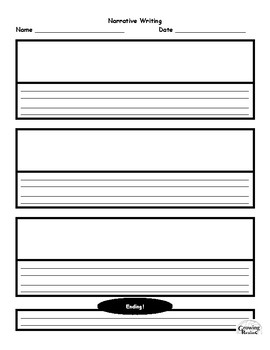 Narrative Writing Template- Beginning, Middle, End