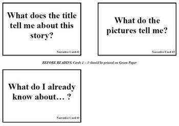 Narrative Text Questions for Before During After Reading