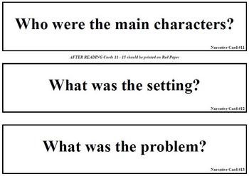 Narrative Text Questions (for pocket chart)