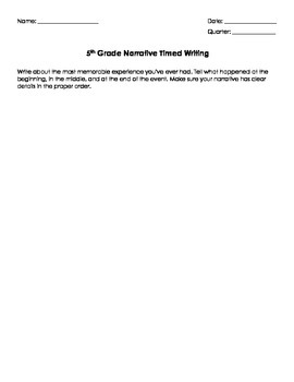 Narrative Timed Writing