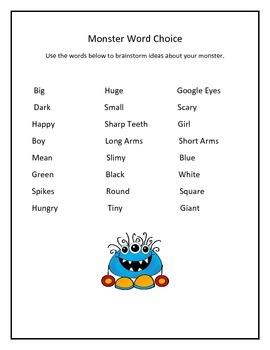 Narrative WRiting Monster Stories