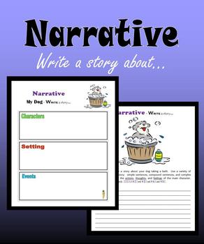 Narrative:  Write a story about…