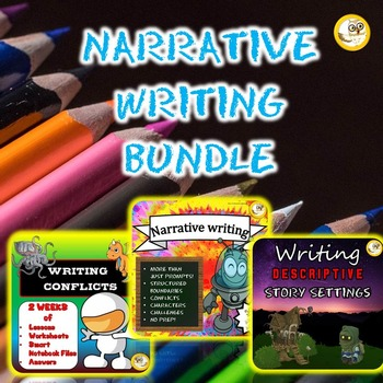 Narrative Writing Pack - Writing Prompts, Descriptive Writing, Writing Conflicts