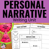 Personal Narrative Writing Unit with Graphic Organizers and Rubrics