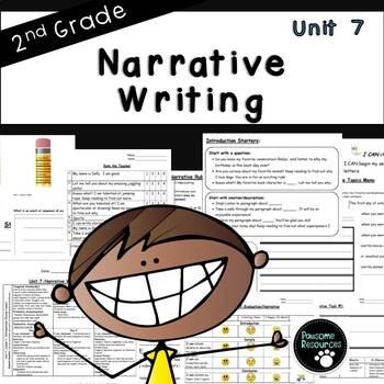 Second Grade Narrative Writing Unit (EDITABLE!)