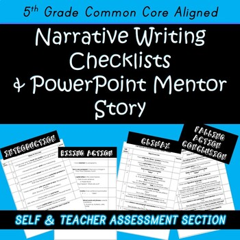 Narrative Writing Checklists