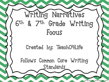 Narrative Writing- 6th and 7th grade- Christmas themed