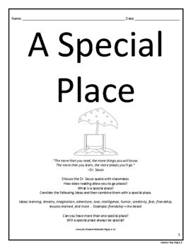 Personal Narrative Writing: A Special Place CCSS Grades 3-6