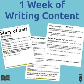 Narrative Writing: A comprehensive, week-long packet!