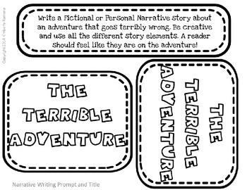 Narrative Writing Activity- Wacky Writing Kids
