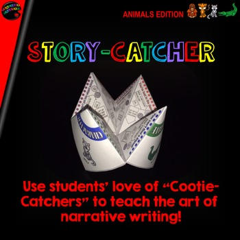 "Cootie Catcher Narrative Writing: ""Story-Catcher"" (Animals Edition)"