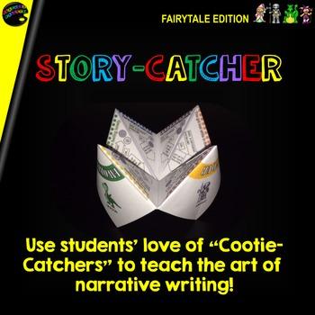 "Cootie Catcher Narrative Writing: ""Story-Catcher"" (Fairytale Edition)"