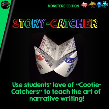 """Cootie Catcher Narrative Writing: """"Story-Catcher"""" (Monsters Edition)"""
