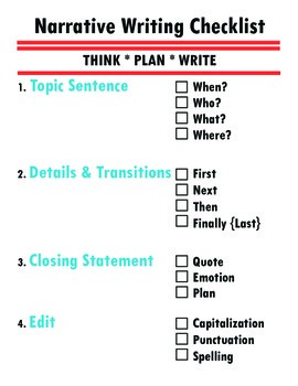 Narrative Writing Anchor Charts {Common Core Standards and Lucy Calkins}