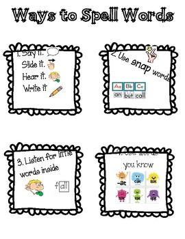 Narrative Writing Anchor Charts - Grade 1