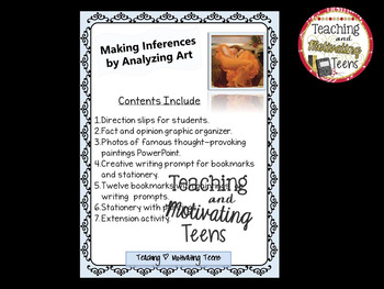 Creative Narrative Writing Inference with Art Prompts - Middle & High School ELA