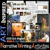 Narrative Writing Prompts with Creative Art Inference Middle & High School ELA