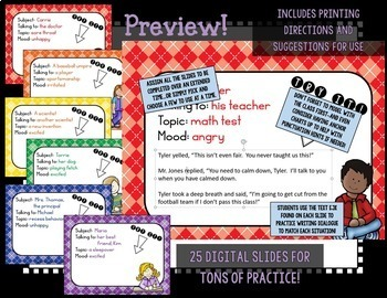 Writing Quality Narratives with Dialogue for Grades 3-5 BUNDLE