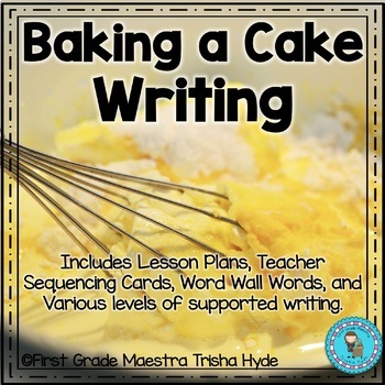 Baking a Cake Writing Prompt