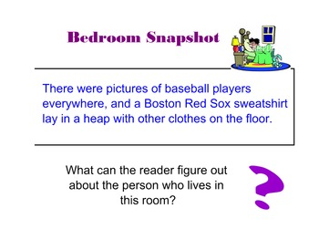 Narrative Writing: Bedroom Snapshot Lesson