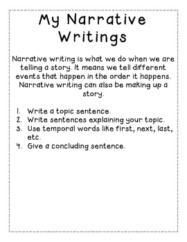 Narrative Writing Book