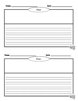 narrative writing book half page template graphic organizer