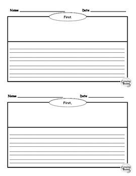 Narrative Writing Book Half-Page Template / Graphic Organizer
