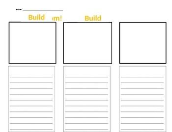 Narrative Writing Build Build Boom Template
