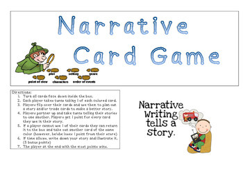 Narrative Writing Card Game